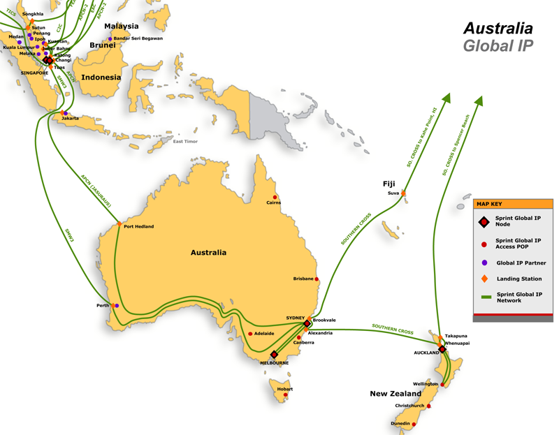 Australia And Pacific Map.Network Maps Asia Pacific Australia Telecom Ramblings