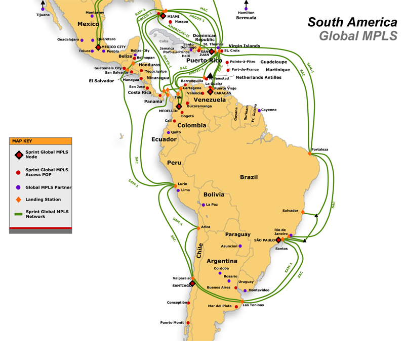 Network Maps Latin America – Map of South Mexico